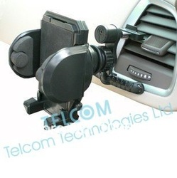 free shipping ,Mobile phone holder cradle bracket for iPhone , Car air vent mount holder, cell phone holder on car air vent(China (Mainland))