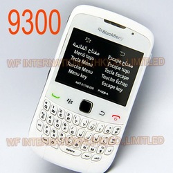Original BlackBerry 9300 Curve Mobile Phone Smartphone Unlocked 3G WIFI Bluetooth Cellphone &amp; White(China (Mainland))