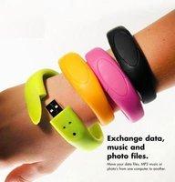 usb flash drive bracelet  8GB/16GB OEM LOGO Gift free shipping