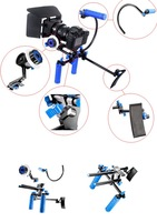 Free shipping  RL-00II DSLR RIG movie kit  shoulder mount stabilizer with follow focus and matte box for  EOS 5DII 5DIII