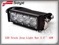 5.5inch 40W led CREE lights bar IP68, single row CREE led offroad bar light,newest model in market, hot sell in US