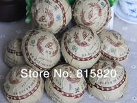 Ripe puer tea old tea tree materials puerh ripe tea cake 100g +Secret Gift+free shipping