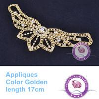 17cm Length Waist Decoration Sewing On Shiny Stones Crystal Rhinestones Applique