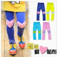 free shipping Cute children PP pants ,heart shape children leggings, Cotton childrens stockings 5pcs/lot Pantyhose stockings