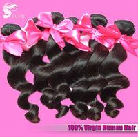 "EVAS Hair Products 6A Peruvian Loose Wave Virgin Hair 12""-30"" Loose Wavy Hair 4pcs lot Mixed Lengths Hot Sale Hair Extensions"