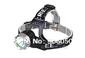 Free shipping  18650 headlamp CREE XM-L XML T6 LED Headlamp Headlight 1600 lumen Rechargeable Charger