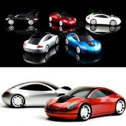 New 2.4G 1200DPI 3D Car Shape Wireless Optical Mouse Mice for Laptop PC USB Receiver(China (Mainland))