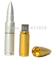 Wholesale NEW Metal Bullet Shape Genuine 4GB 8GB 16GNB USB Memory Stick Flash Pen Drive