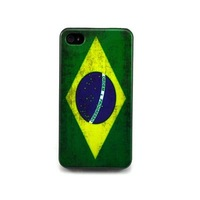 Classic Retro Brazil National Flag Hard Back Case Cover for iphone 4 4G 4S