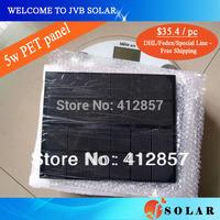 DHL Fedex Special Line Free Shippng solar panel 5w monocrystalline pv cell module kits MOQ 1pc
