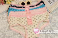 Free Shipping Women Lace Panties Good Quality and Low Price Maiden Lovely Underwear 6Pcs/Lot