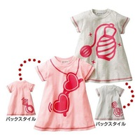 2013 New girls baby cotton Short-sleeved t-shirt cartoon Printing tee tops Wholesale pink. Yellow. Green green. Beige.
