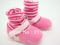 HOT,NE003 baby girl pink cotton first walker shoes home shes size 2,3, 4  toddler shoes