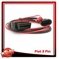 OBD2 Adaptor diagnostic cable Fiat 3 pin to OBD2 Adaptor Cable