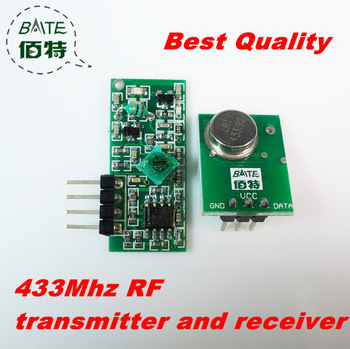 Best Quality~ 10pair/lot 433MHZ Superregeneration Wireless Transmitter Module Burglar Alarm and Receiver Module