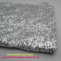 Shine paillette cloth allover sequin embroidery lace fabric 135CM