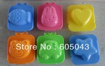 wholesale free shipping 6 designs Sushi Rice Mold Mould Seaweed Cutter Bento plastic cake chocolate icecream egg