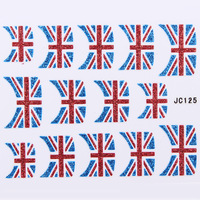 Wholesale 13 Styles 3D Glitter Flag Nail Art Stickers French Manicure 100pcs/lot Free Shipping---NEW