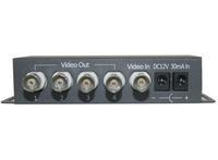 Model:SD-1V4, 4 port Passive Video amplifier splitter