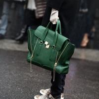 Fashion Star Style Women Messenger Bags Ladies Handbag Double Zipper Golden Clasp Cover Designer Handbag