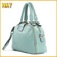 2015 Leather Bag Women Cowhide handbag Candy Colors genuine leather handbags Free Shipping vintage Bags Ladies