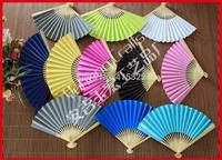 100pcs/lot colorful paper fan wedding gift favor free shipping