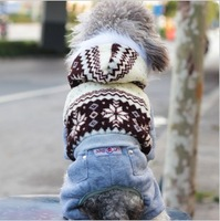 022179 Free Shipping New fall and winter clothes Christmas the fawn hooded coat pet clothes dog clothes dog winter