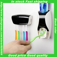 UB004 toothpaste dispenser holder 3M sticker quality squeezer for toothpaste Toothbrush holder Rack  Automatic bathroom