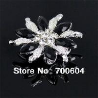 2014 hot sale high quality fashion flower shape rhinestone metal alloy wedding craft button, Jewelry buttons, wholesale, HZN004