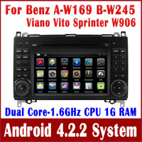 Android Auto Radio Car DVD Player for Mercedes Benz A / B Calss W169 W245 with GPS Navigation Bluetooth TV USB AUX Stereo Audio