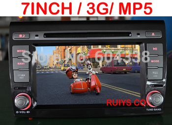 car DVD with 3G for FIAT Bravo/Ritmo ,CANBUS+GPS+BT+FM+Ipod+free 4G SD card with map