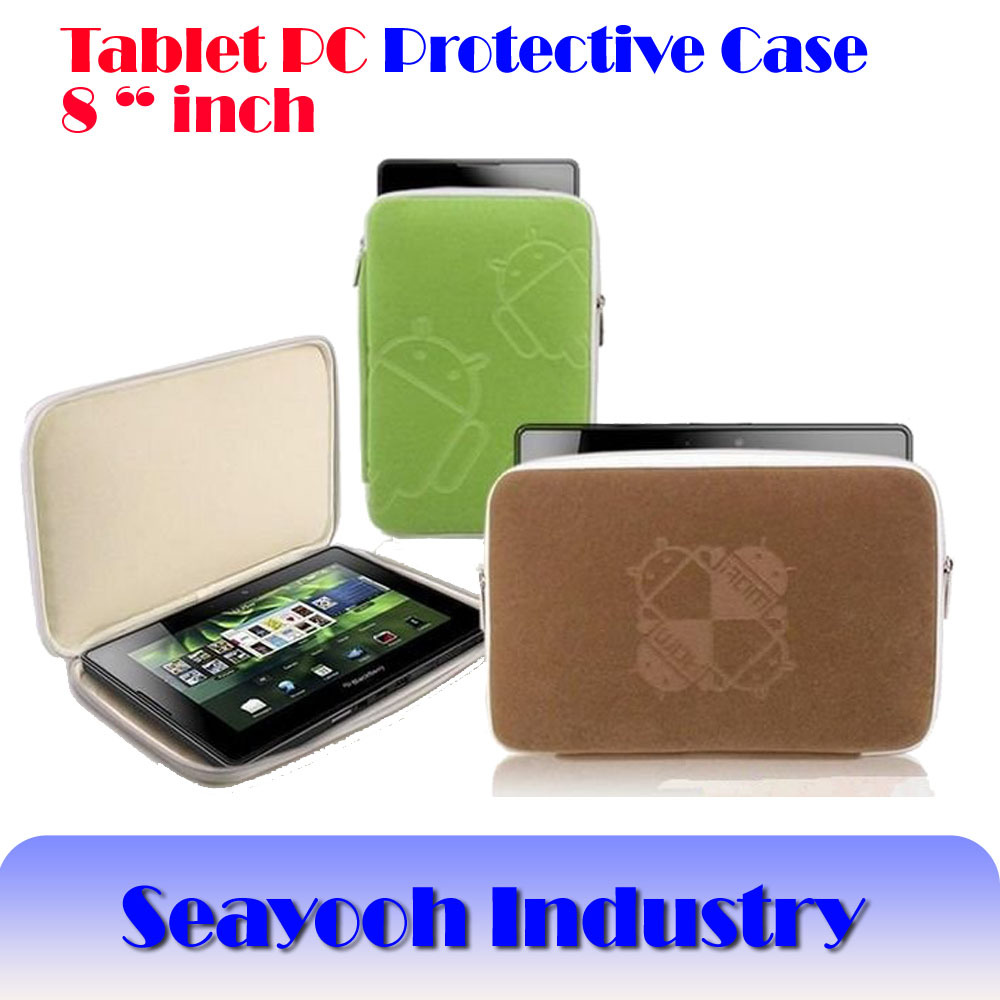 """Free Shipping +Protective Soft Case/Bag/Cover Android Rober for Universal 8"""" Inch Tablet PC+Screen protector by size(China (Mainland))"""