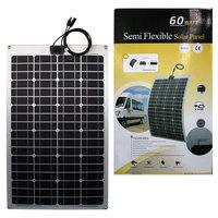 UK STOCK! 60W 12V Mono Semi flexible solar panel,Fast Ship,NO custom tax,WHOLESALE
