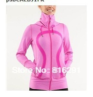 Lululemon scuba Lady Sport  Athletic Jacket yoga wear coat Women's hoodies fashionable popular pink color clothing clothes