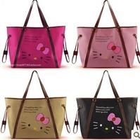 Hot Selling Hello Kitty Bags Fashion Hello Kitty Oxford Handbag Lovely Large Waterproof Totes