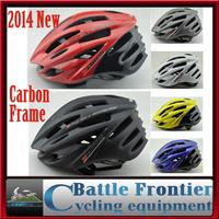 2014NEW adult man woman white 285g Carbon Fiber mtb road bike cycling helmet/head gear EPS+PE adjustable 57-61cm red black blue