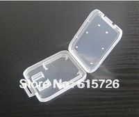 500pc/lot High Quality Memory Card Case Protector Box For SD T-Flash card Case Plastic Box