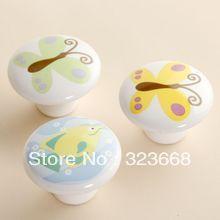 Children room cartoon handle hand-draw great circle drawer chest door handlle ceramic handle  latest