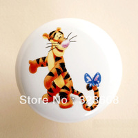 Children room cartoon handle hand-draw great circle drawer chest door handlle ceramic handle  new