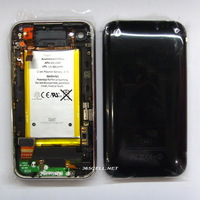 Back Cover for iPhone 3G with Front Bezel Frame and Battery full set Assembly Black and White free shipping