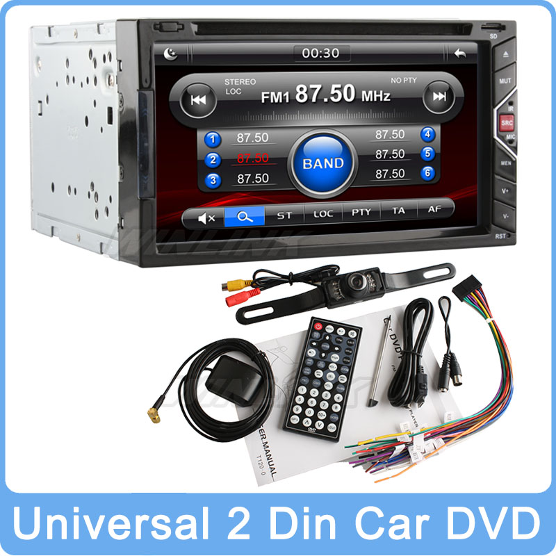 "Buy 1 Get 5 Free, Universal 7"" HD Touch Screen In Dash 2 Din Stereo Auto DVD Player With Car GPS Audio Bluetooth Radio Ipod SD(China (Mainland))"