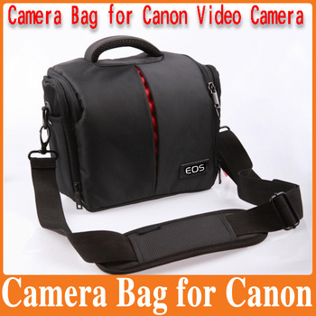 Free Shipping Professional  Shoulder fashion Waterproof DSLR Camera Bag for Canon Camera 50D 60D 450D 550D with Waterproof Cover