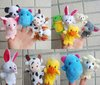 Free Shipping, 20pcs/lot Baby Plush Toy,Finger Puppets,Talking Props 10 kinds of animals