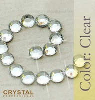 144 pcs ss16 Crystal Clear 4mm wholesale 16ss glass hot fix iron on Design DIY Loose new bead stone FLATBACK hotfix rhinestone