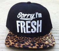 Cheap Sorry i'm fresh leopard print   , YMCMB  Last Kings Trukfit  Boy unkut comme  Snapback hats freeshipping snapbacks caps
