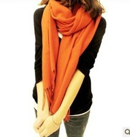 Thick warm scarf 190*70cm  Pashmina scarves solid color unisex shawl 204090 Free Shipping