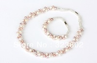 Freshwater Pearl Jewelry Set Bracelet and Necklace for Ladies or Womens Gift