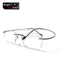 8 colors rimless non-screw memory titanium flexible eyeglasses glasses prescription spectacle optical frame