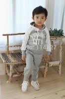 Hot sale! 2014 New Baby Sports Set 2pcs sport clothing set baby wear  children sport suit,5set /lot