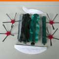 Robot vacuum cleaner SQ-A360 Spare parts: side brush 4pcs+rubber brush 2pcs+bristle brush 2pcs